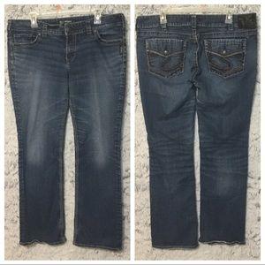 Silver Jeans Suki Mid Slim Boot Cut Sz 34 X 31